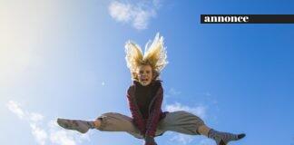 pige hopper højt